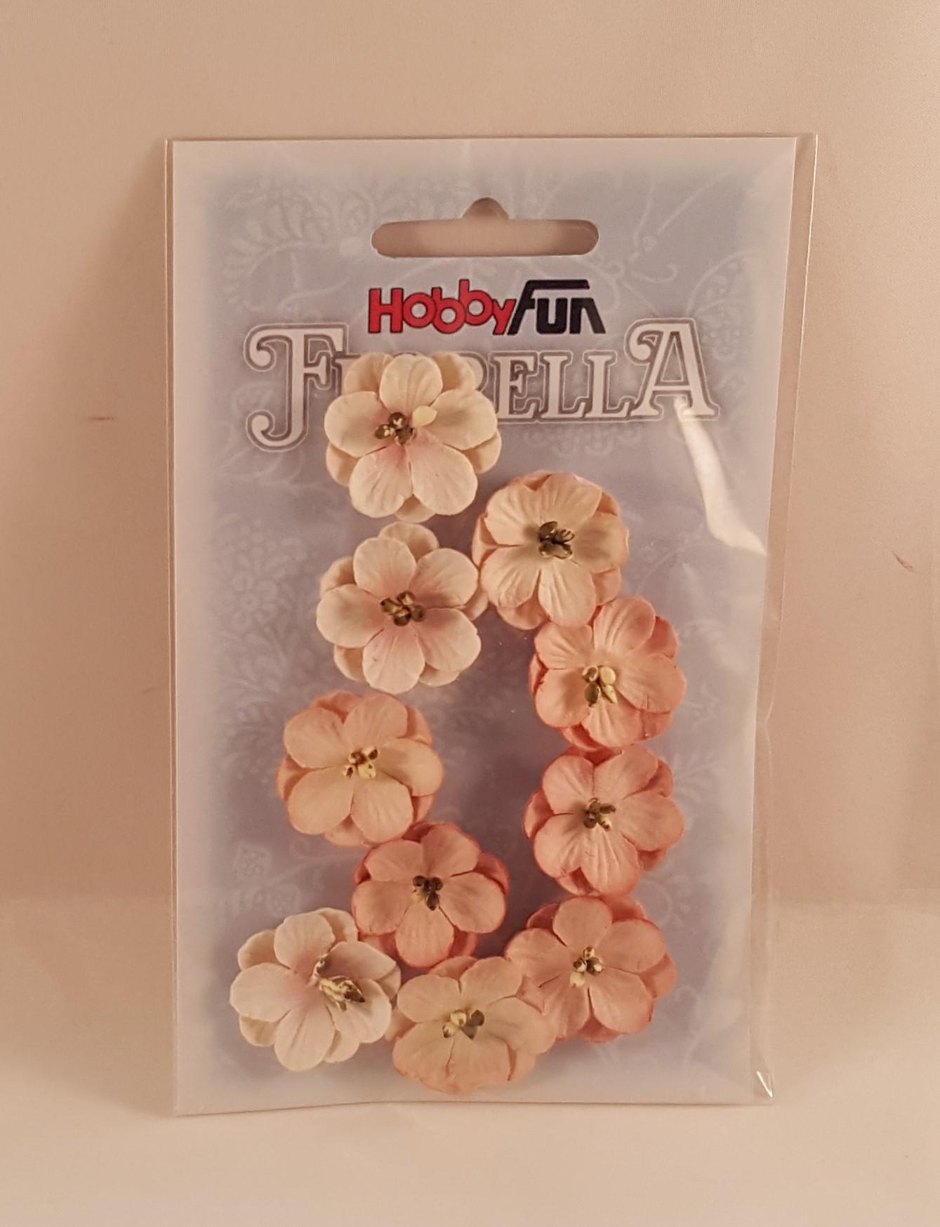 Flores de papel salmão claro para scrapbooking