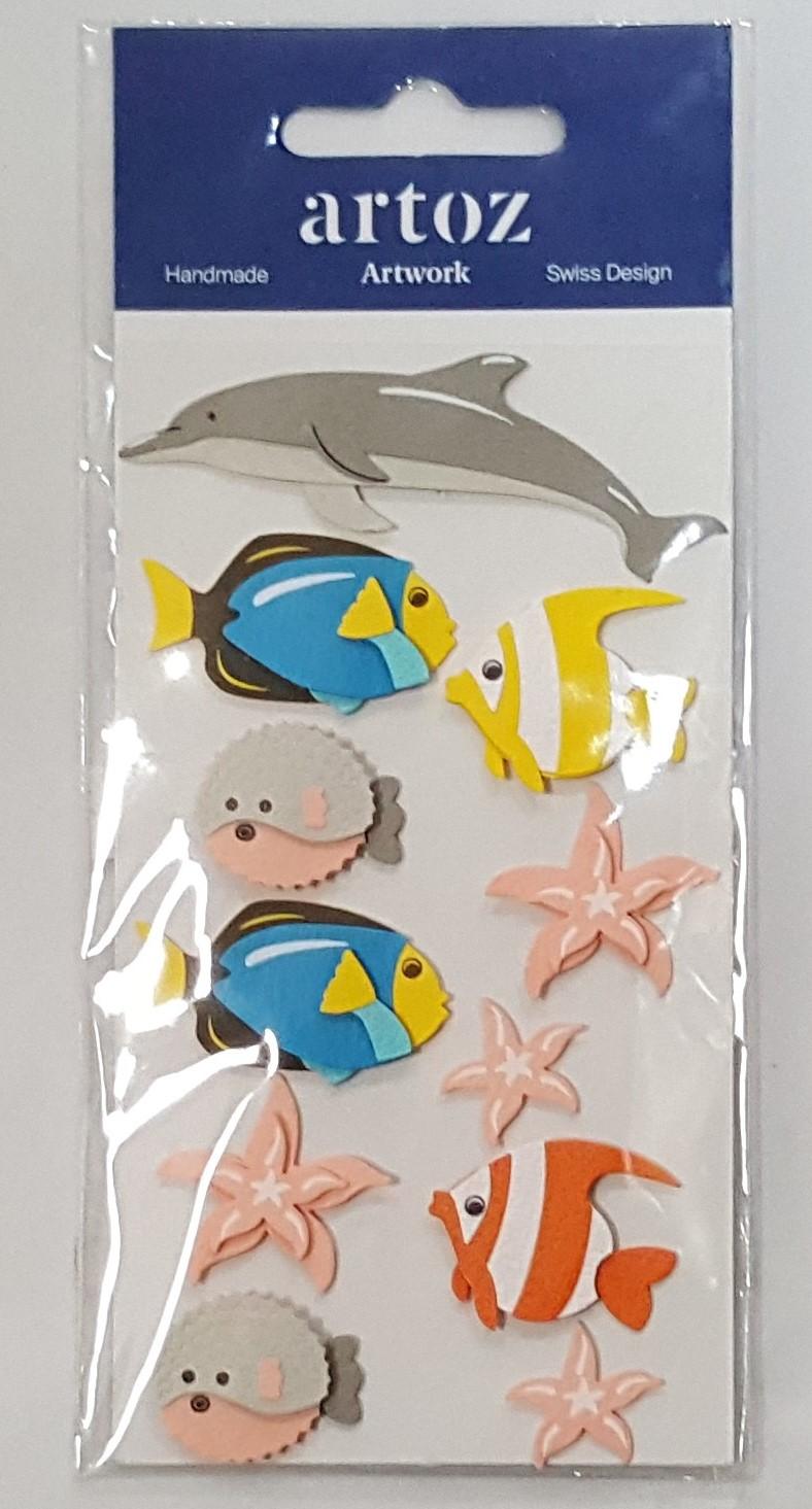 Aplicações scrapbooking - peixes Artoz Artwork