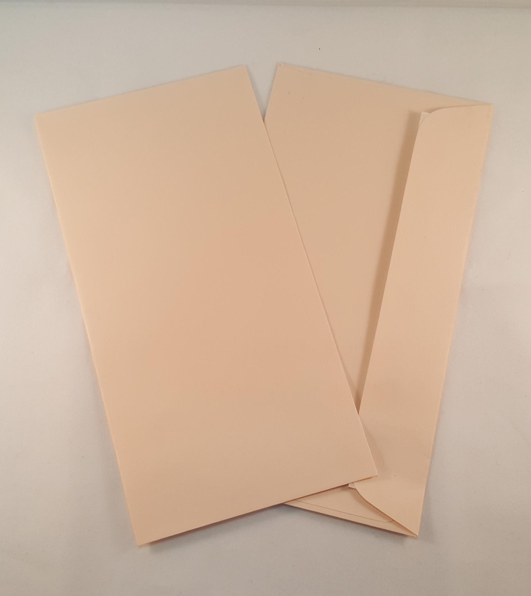 Envelopes DL coloridos cor beje