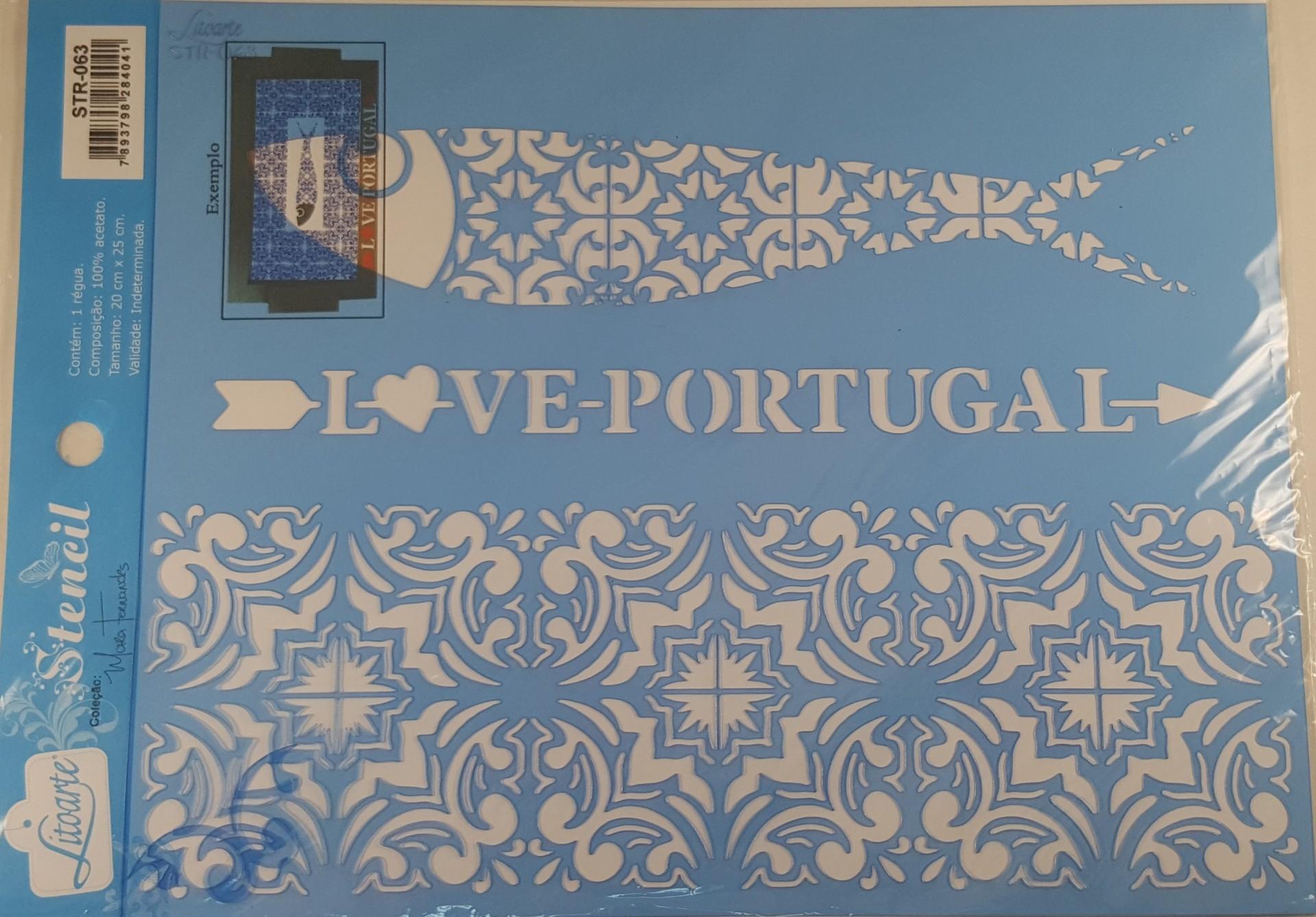 Stencil padrão azulejo português
