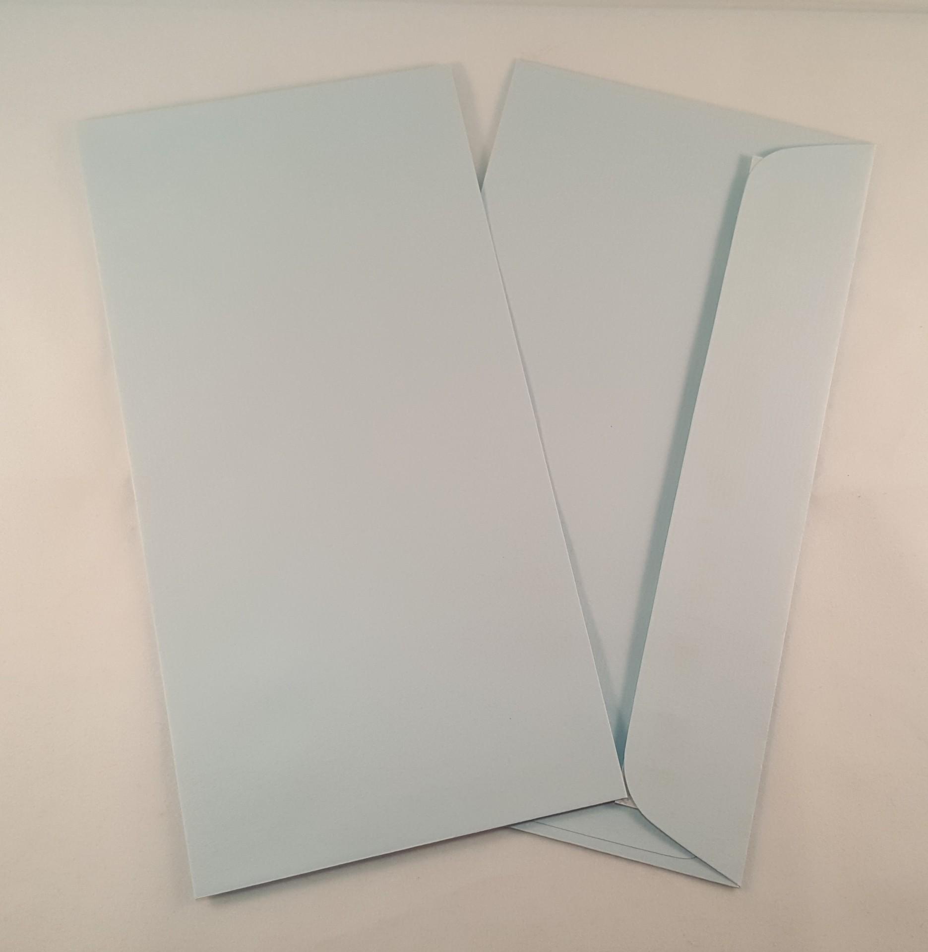 Envelopes DL coloridos cor azul claro