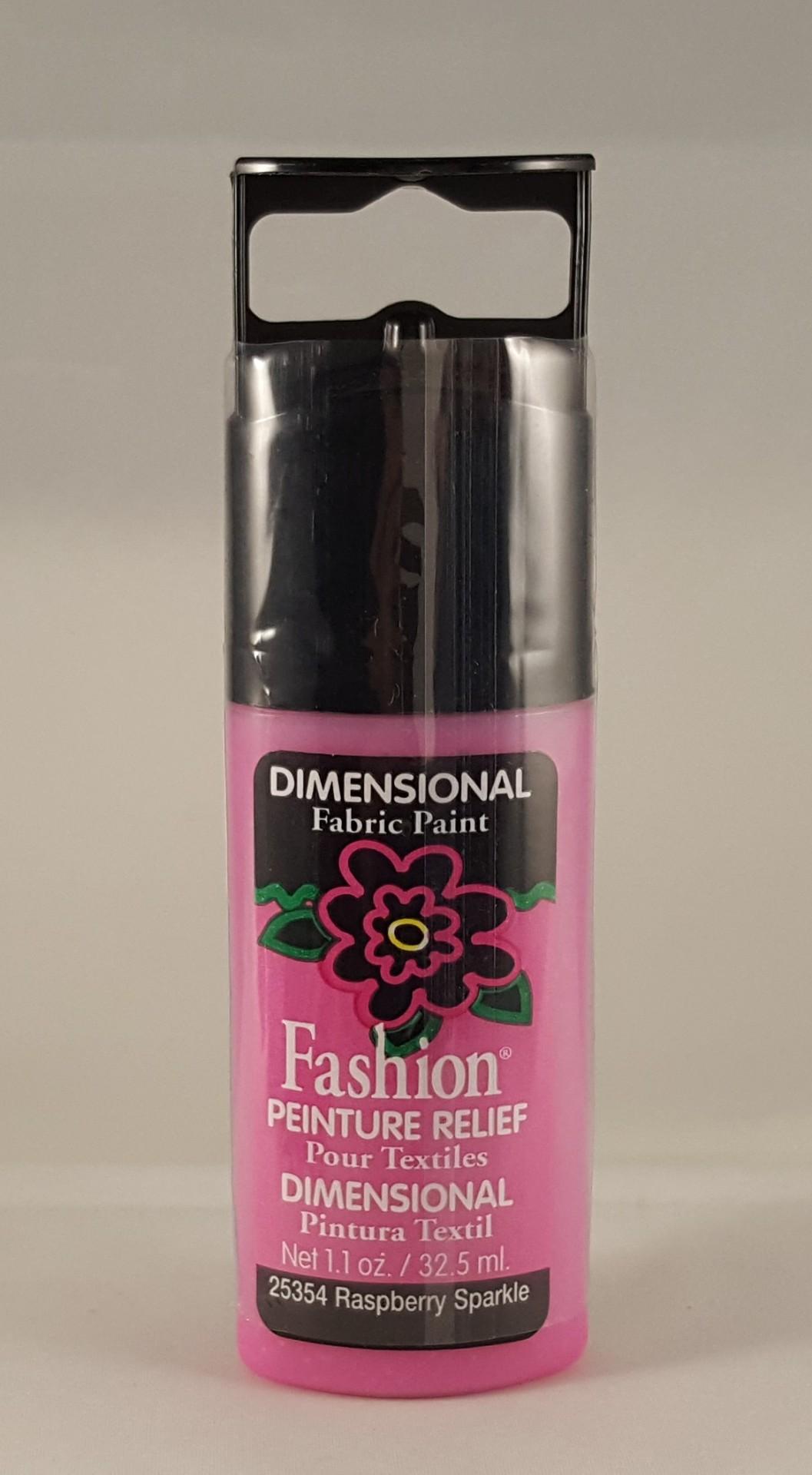 Tinta Dimensional para Tecido Fashion rasperry sparkle