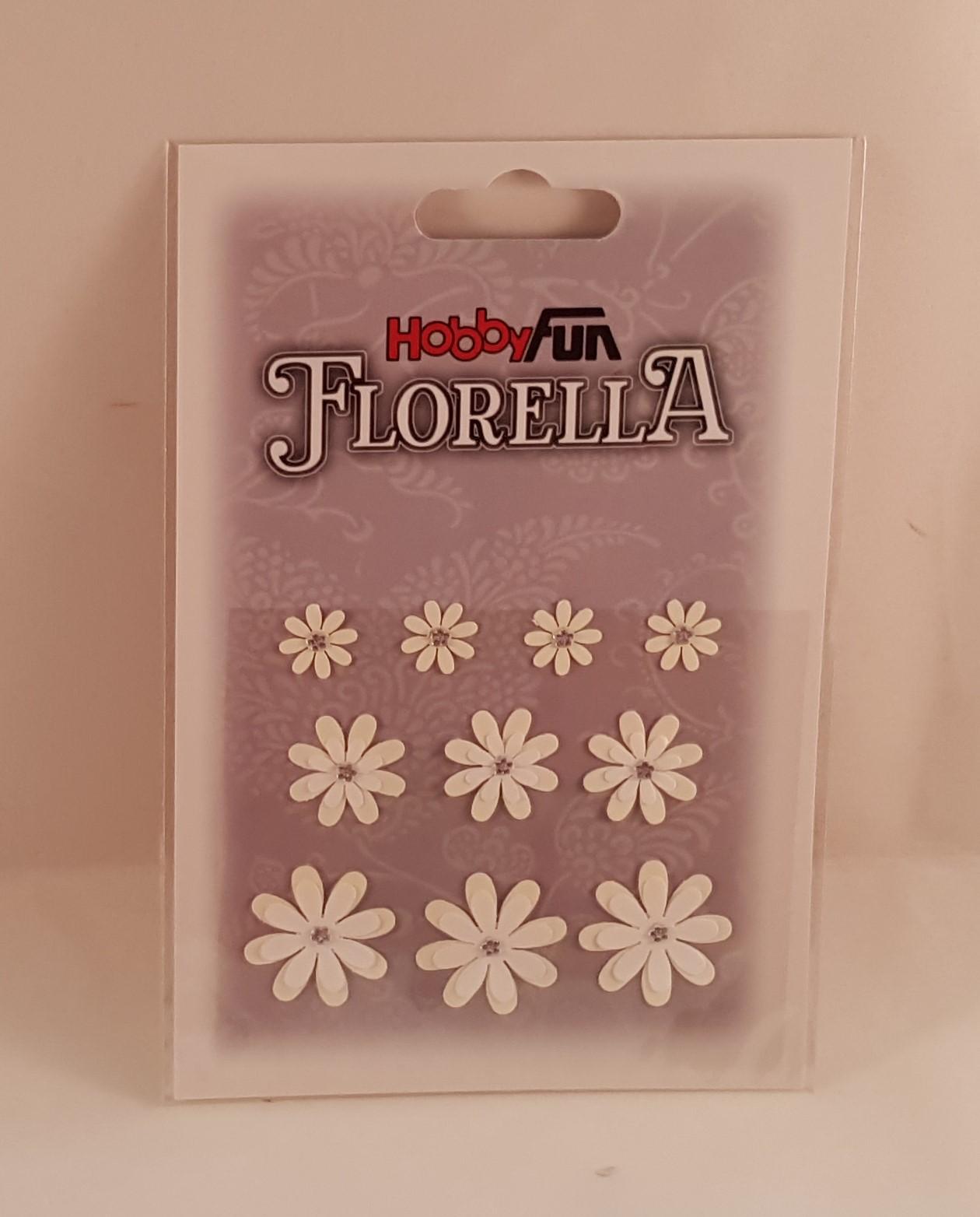 Flores de Papel brancas pequenas para scrapbooking