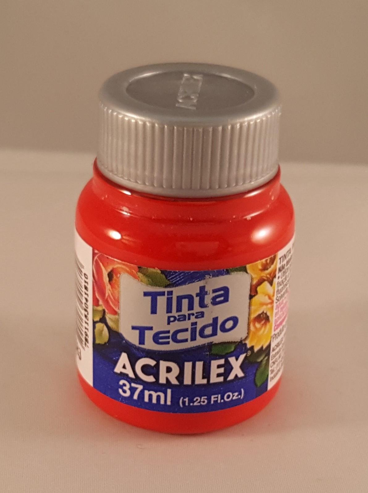 Tinta Tecido Acrilex vermelho tomate 583