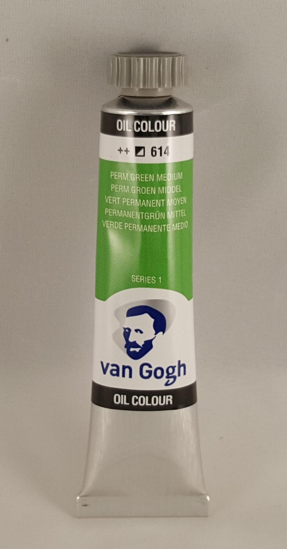 Tinta de óleo Van Gogh perm. green medium
