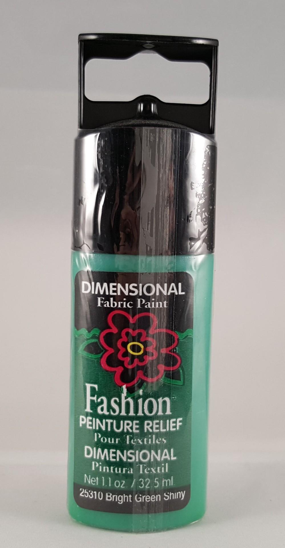 Tinta Dimensional para Tecido Fashion green shiny