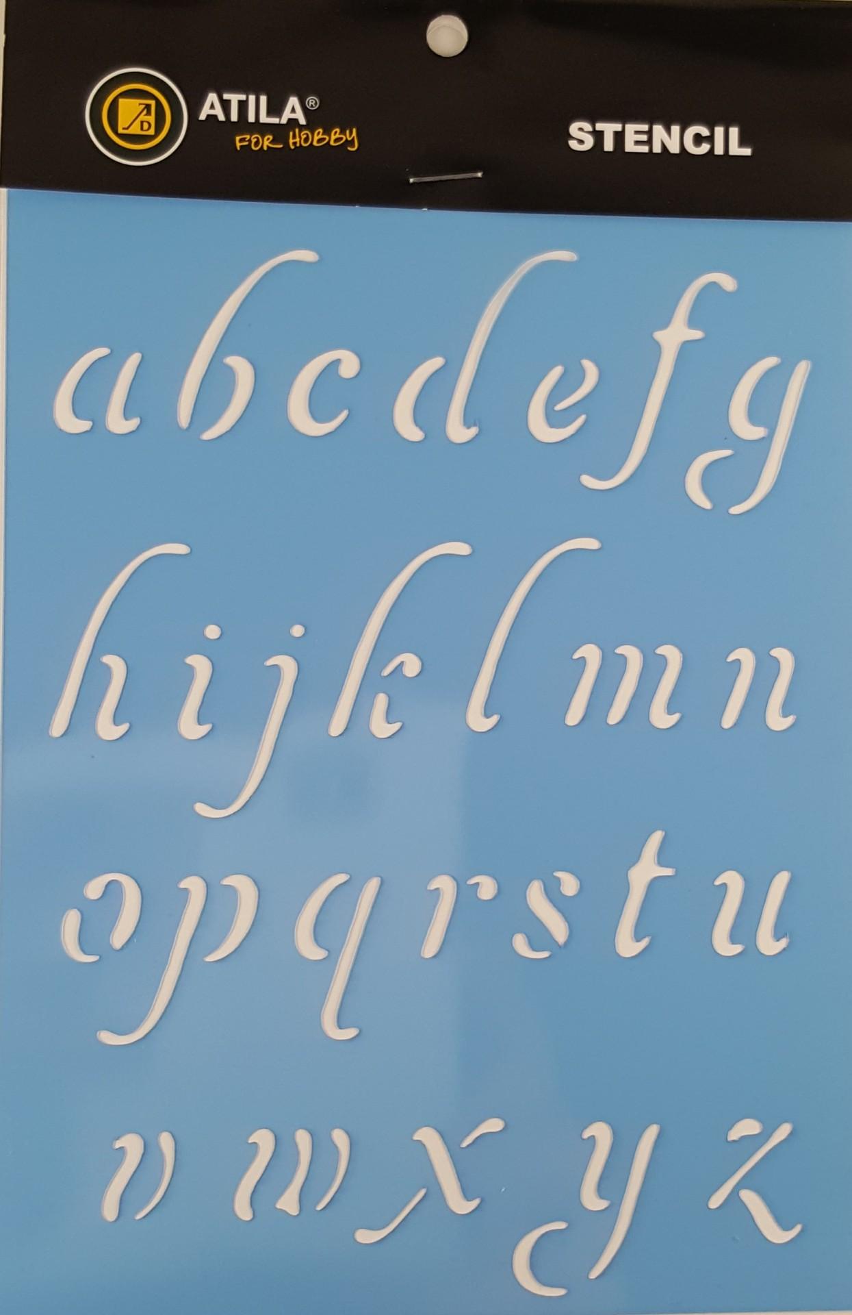 Stencil Alfabeto minúsculas