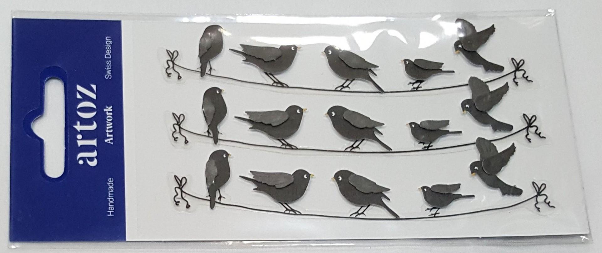Aplicações scrapbooking - pássaros -Artoz Artwork