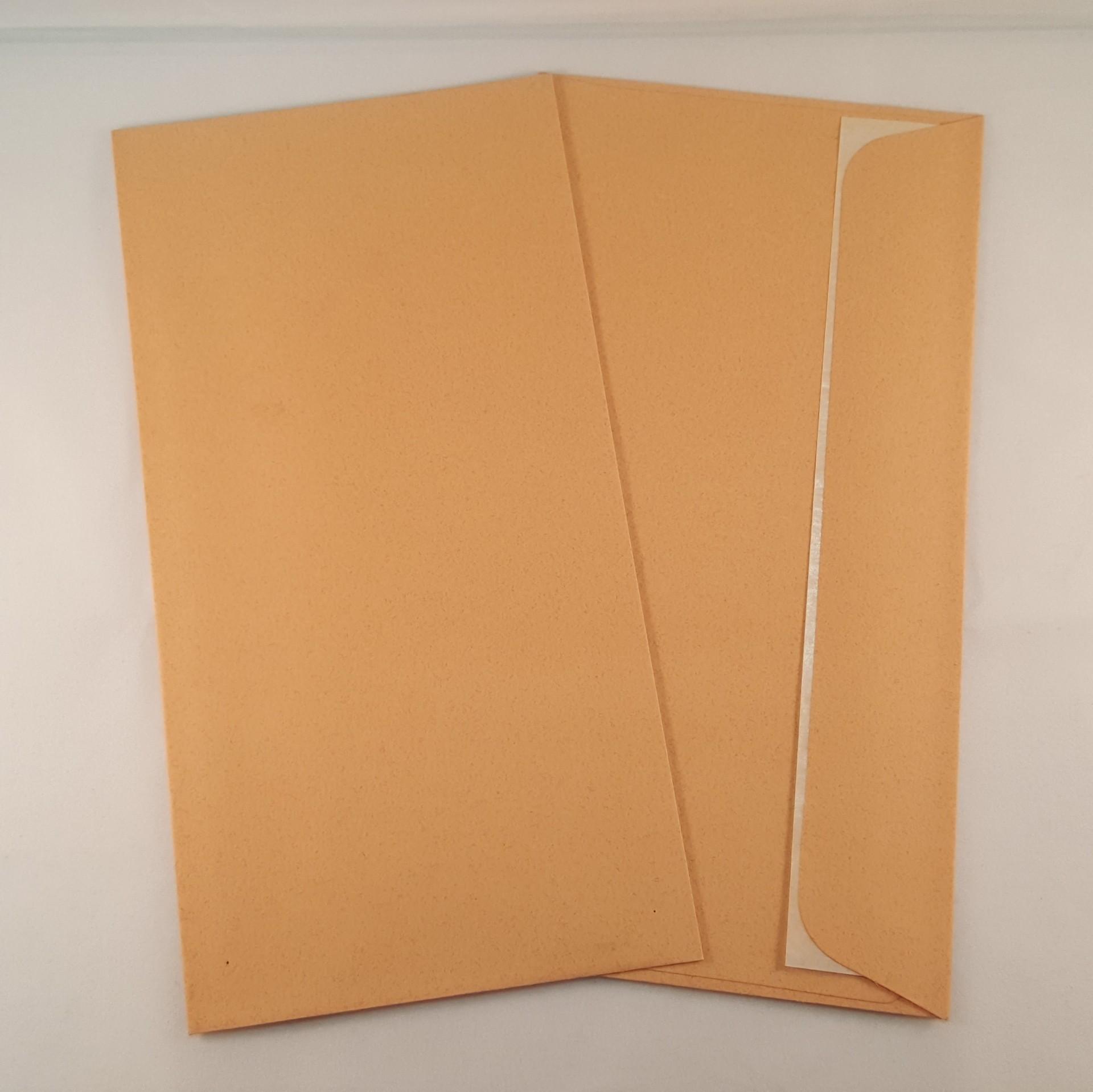 Envelopes DL coloridos cor castanho claro
