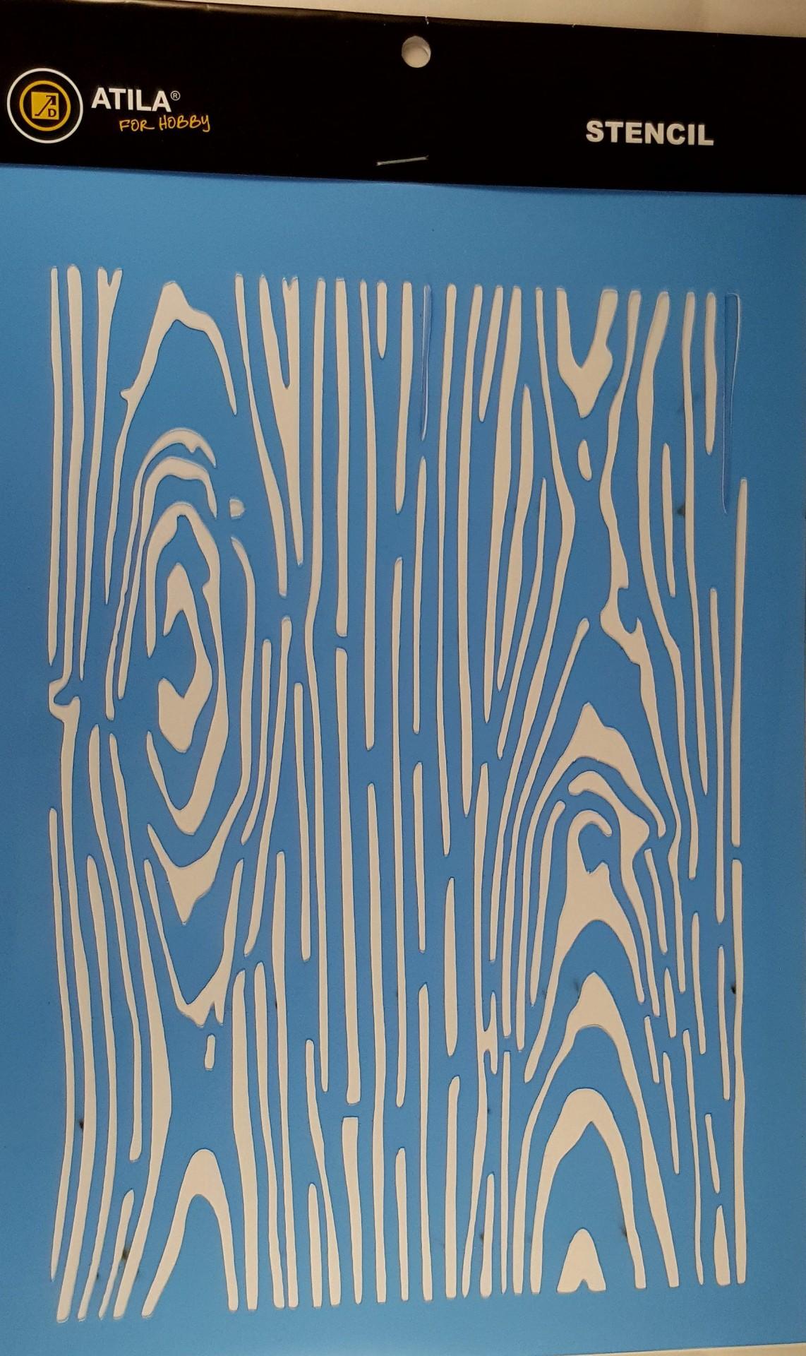 Stencil padrão Madeira