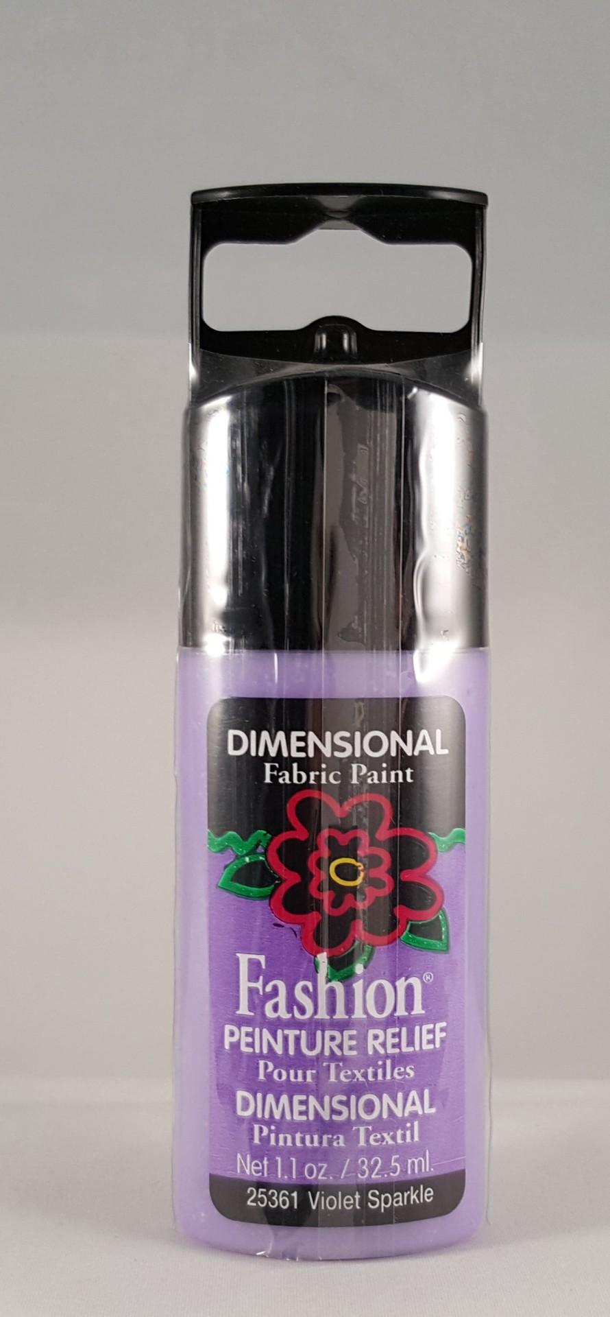 Tinta Dimensional para Tecido Fashion Violet sparkle