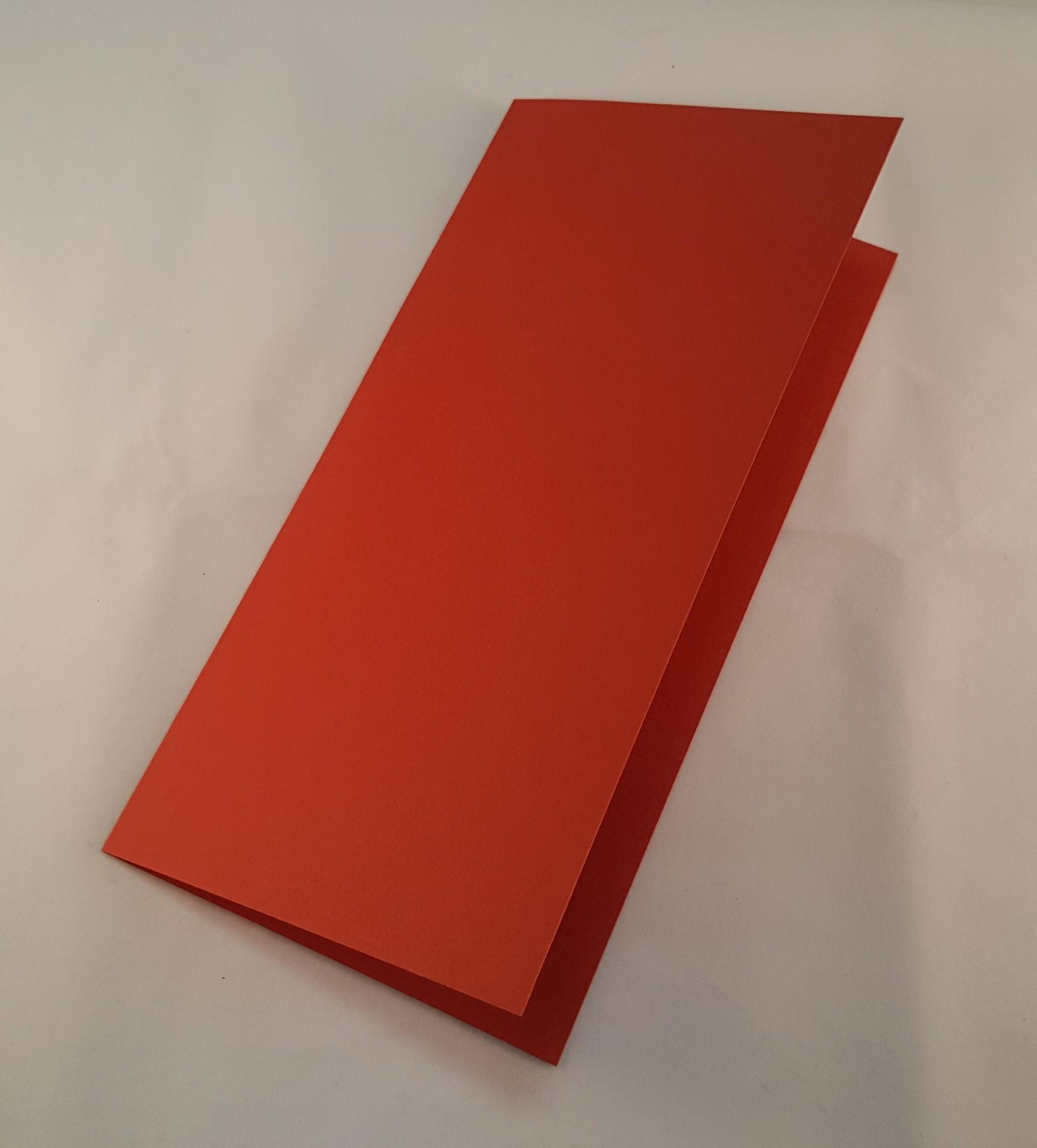 Cartão DL colorido cor vermelho tijolo