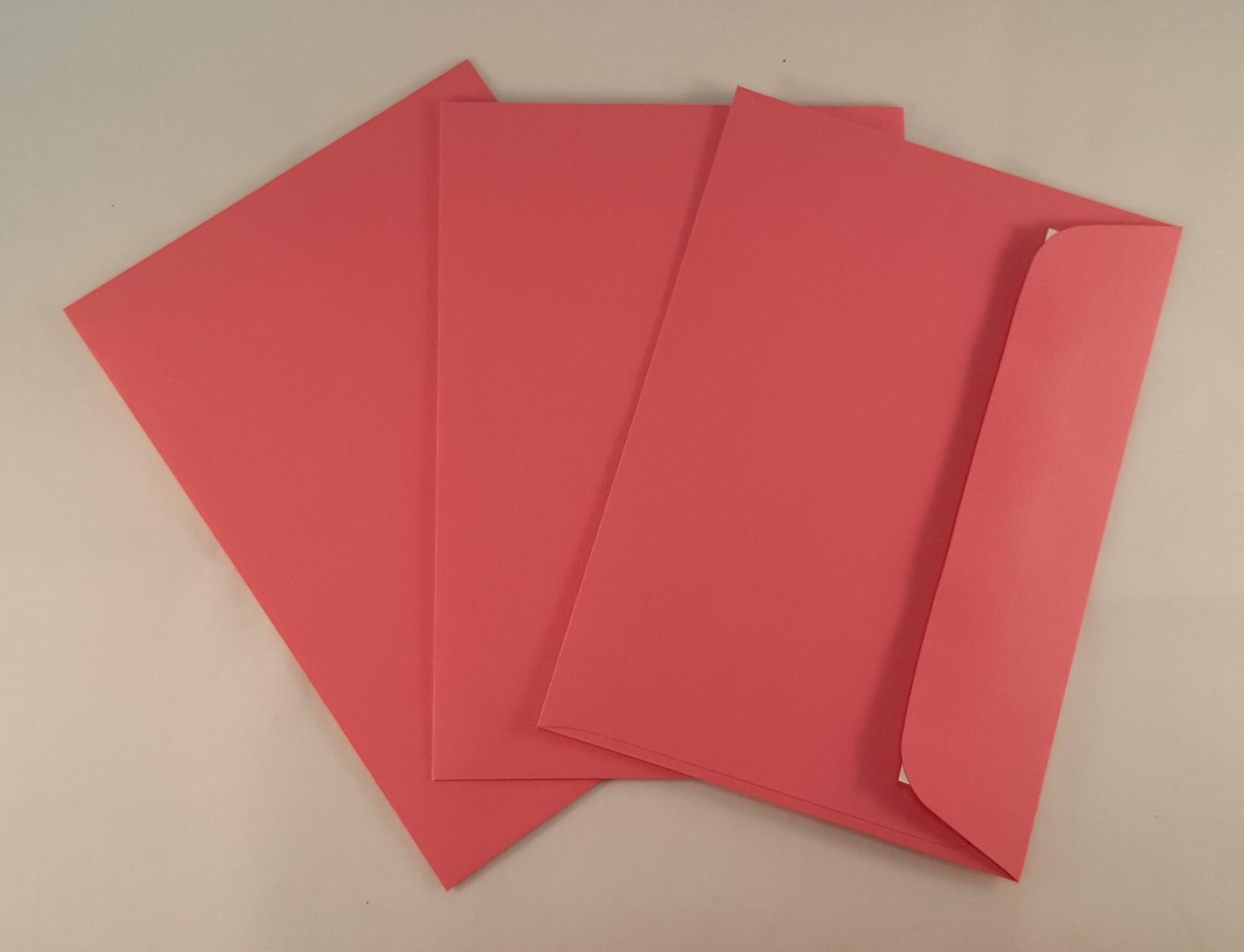 Envelopes C6 coloridos cor rosa