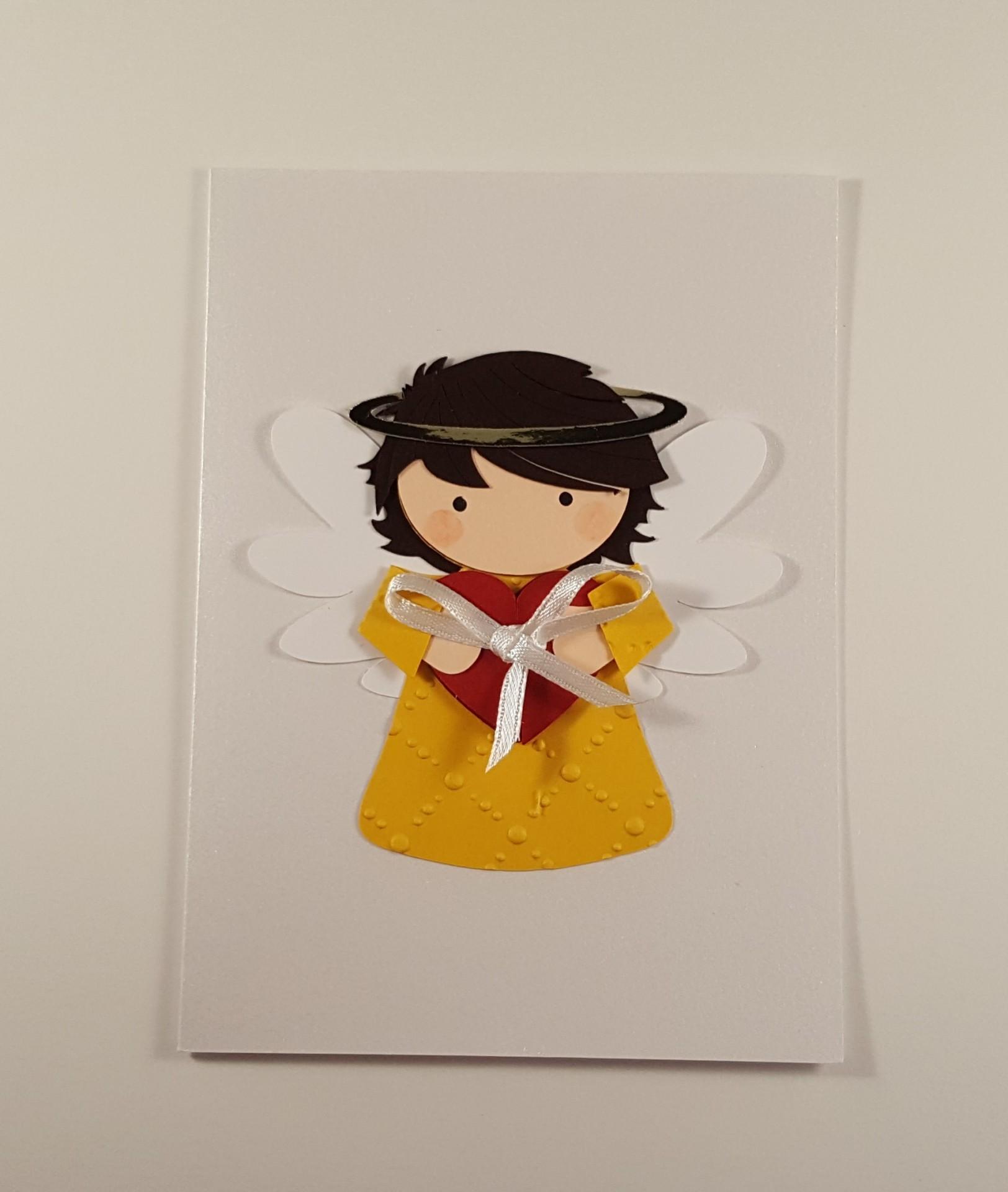 Cartão com anjo