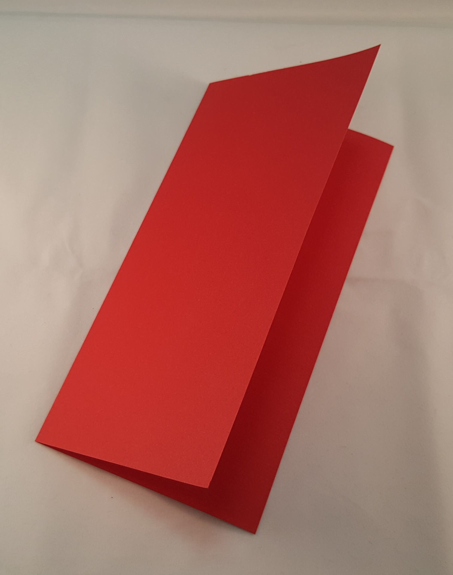 Cartão DL colorido cor vermelha