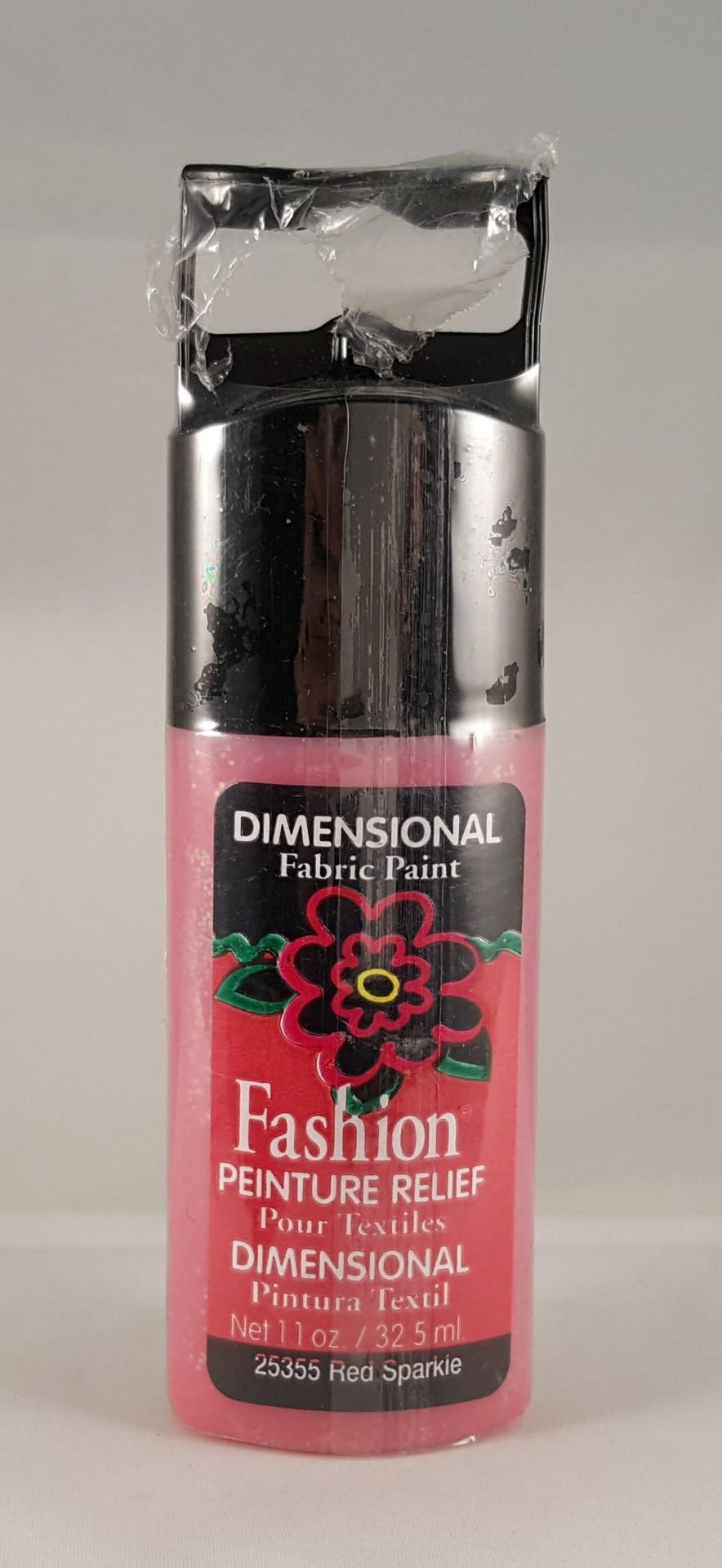 Tinta Dimensional para Tecido Fashion red sparkle