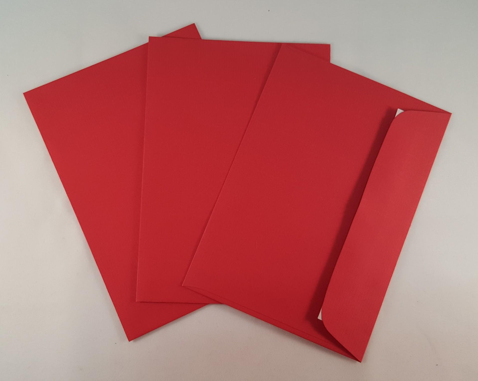 Envelopes C6 coloridos cor vermelho escuro