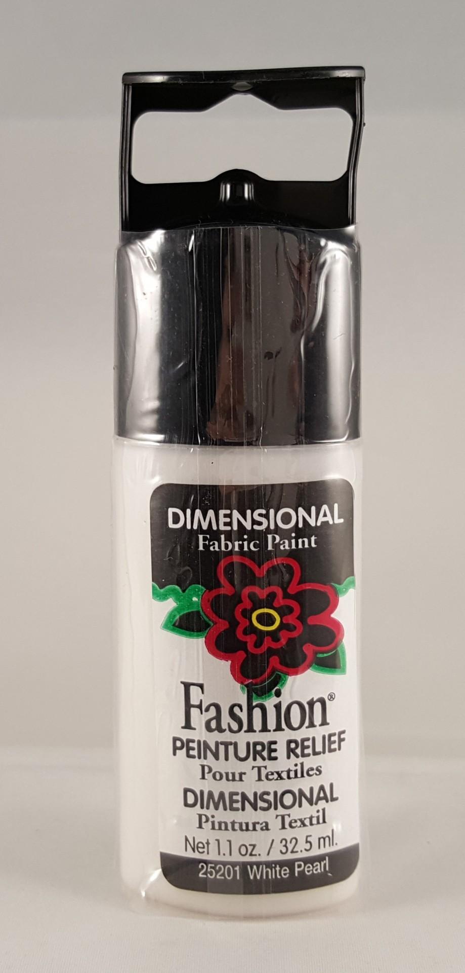 Tinta Dimensional para tecido Fashion white pearl