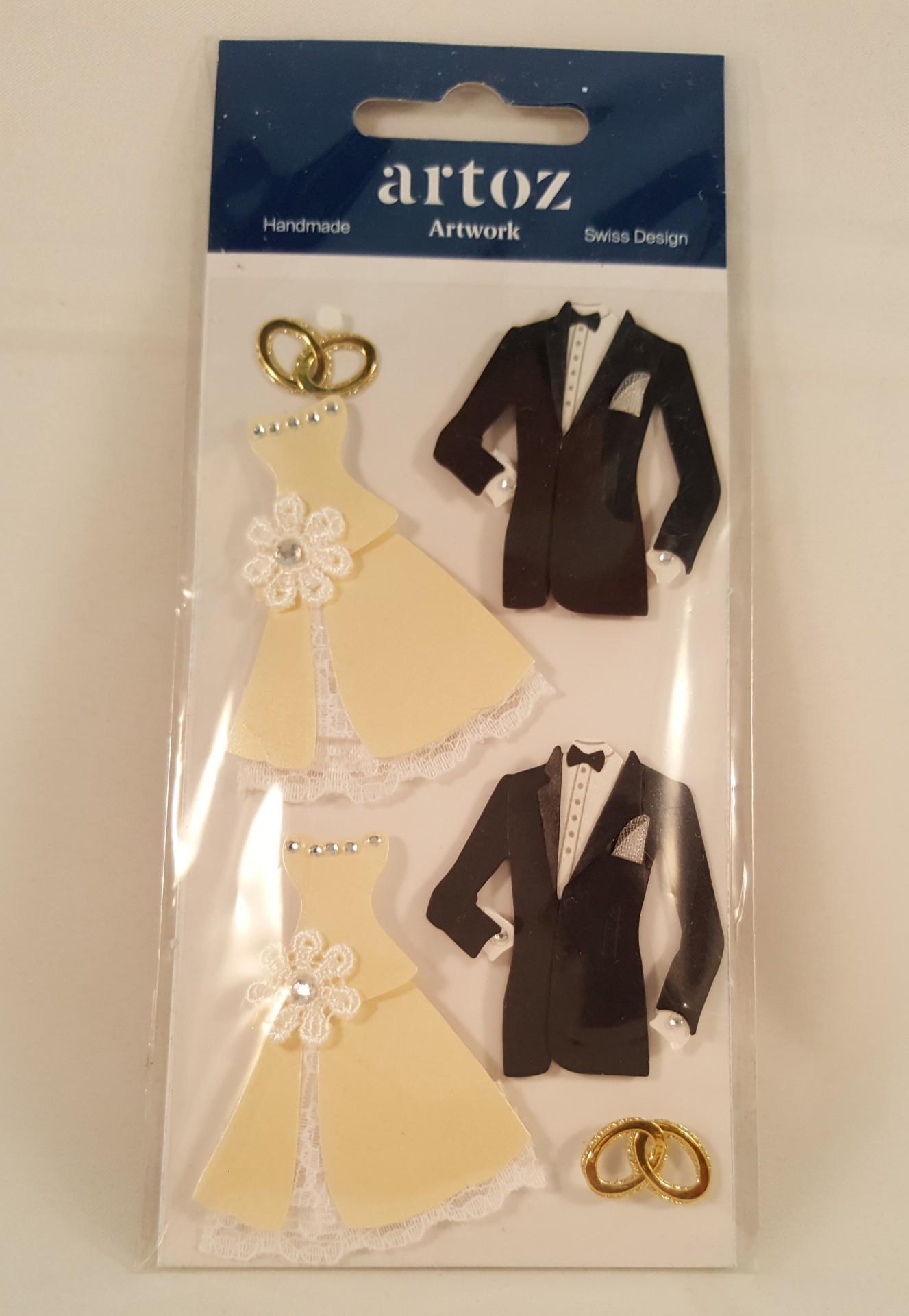 Aplicações scrapbooking -  roupa casamento Artoz Artwork