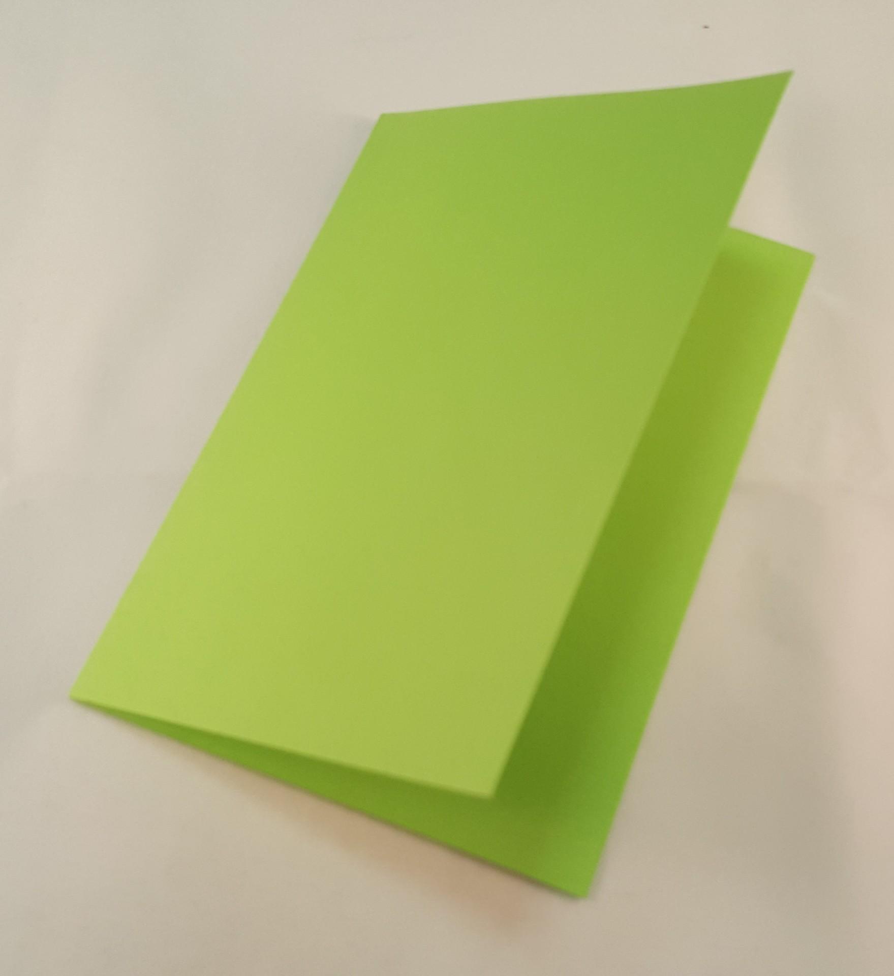 Cartão C6 colorido cor verde