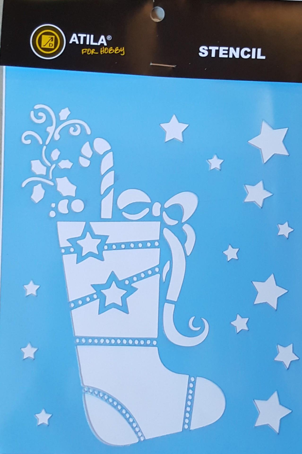 Stencil  Natal Bota