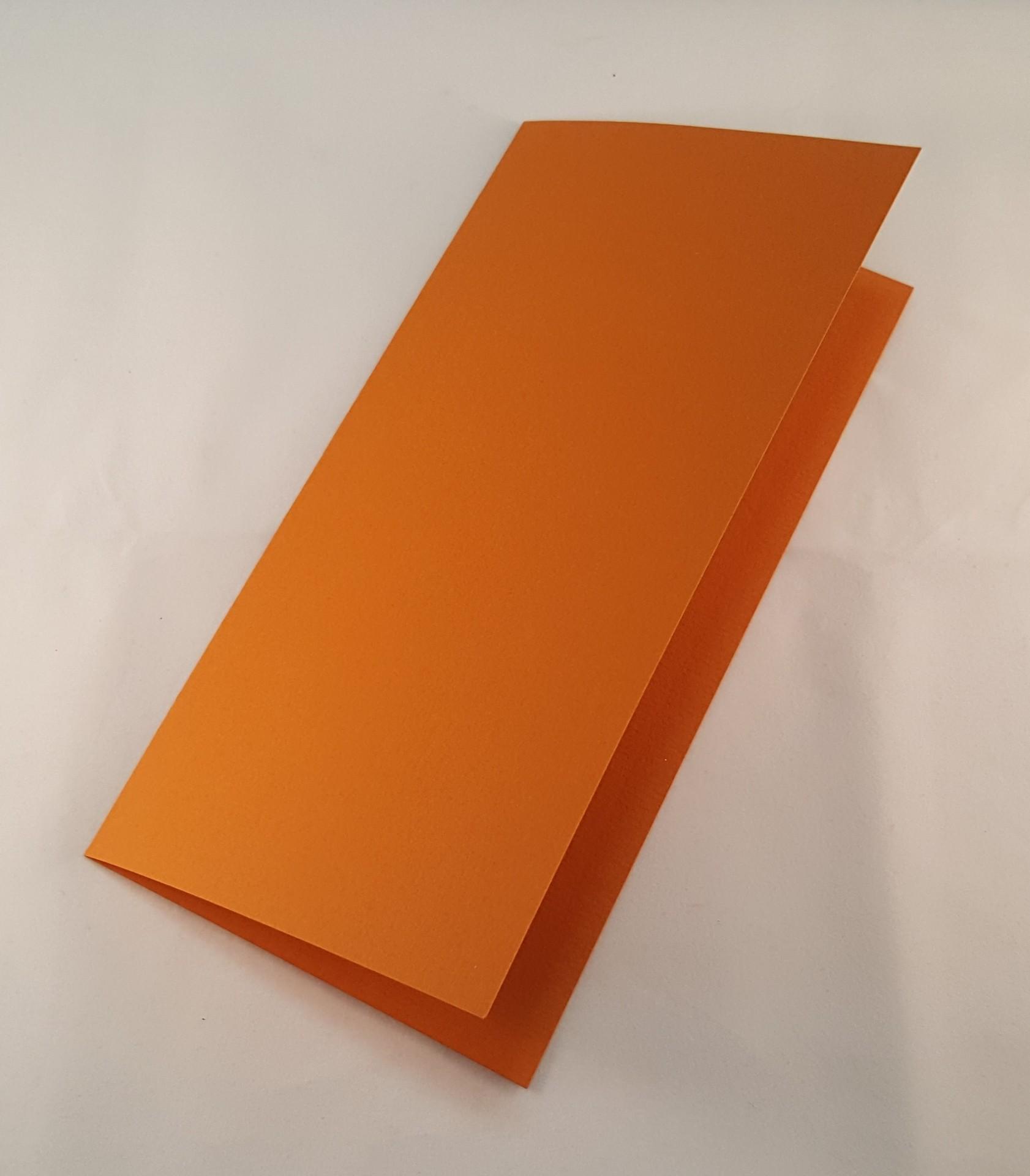 Cartão DL colorido  cor castanho mel