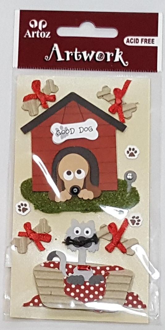 Aplicações scrapbooking - casota cão Artoz Artwork