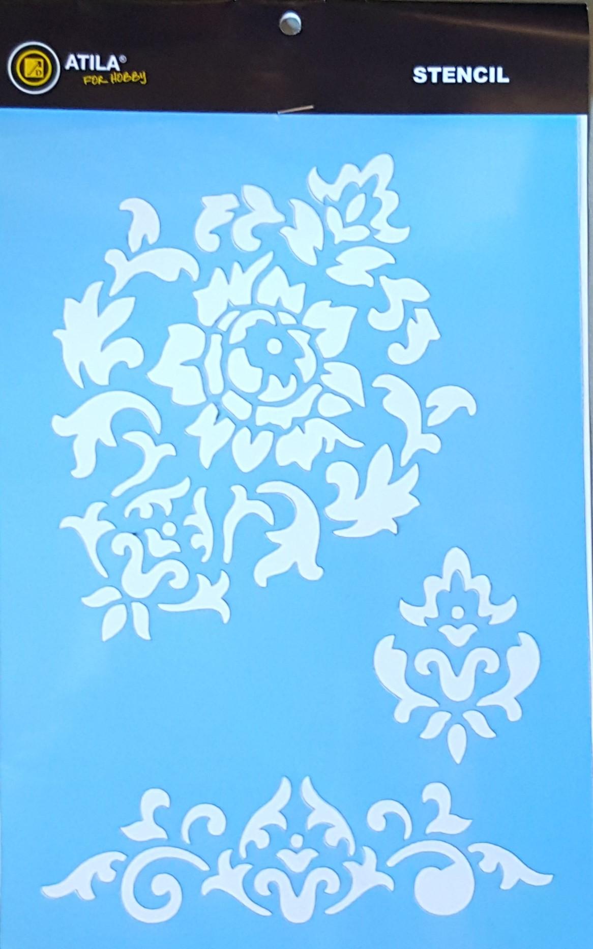 Stencil padrão arabescos 20x30 cm Min.3