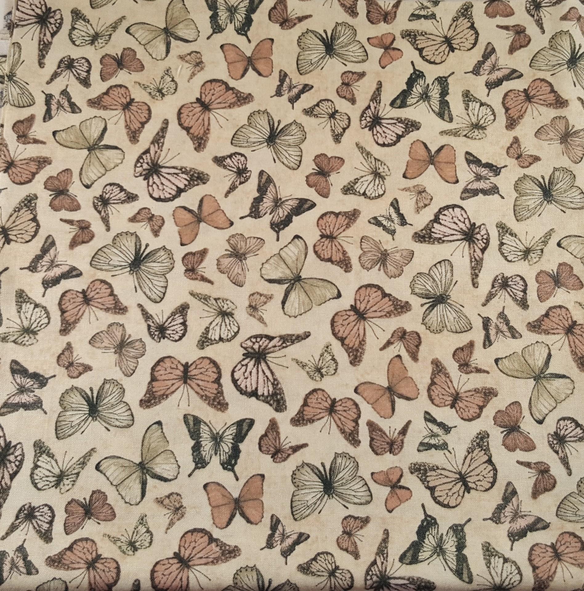 Tecido de algodão estampado-borboletas
