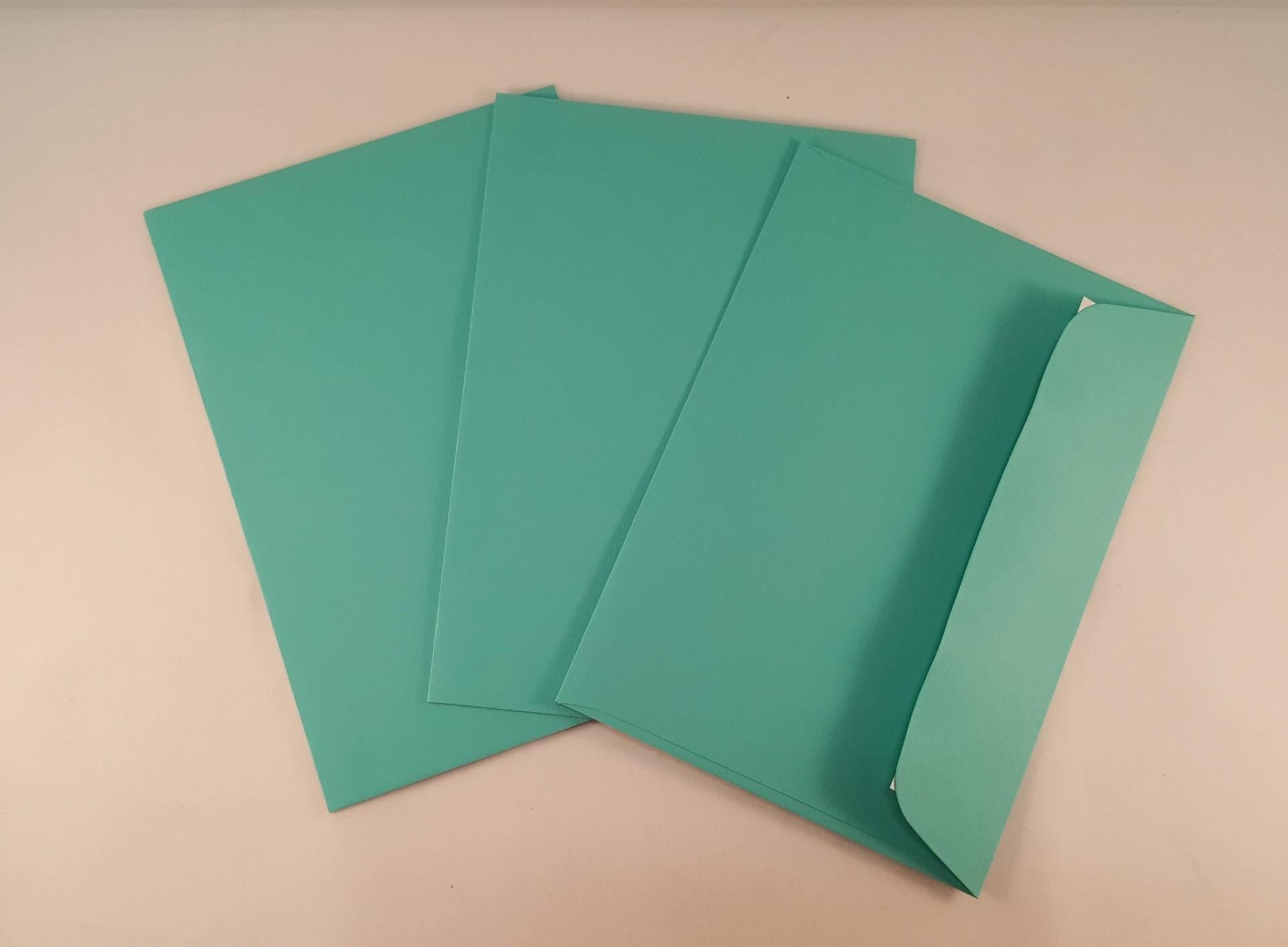 Envelopes C6 coloridos cor azul turquesa