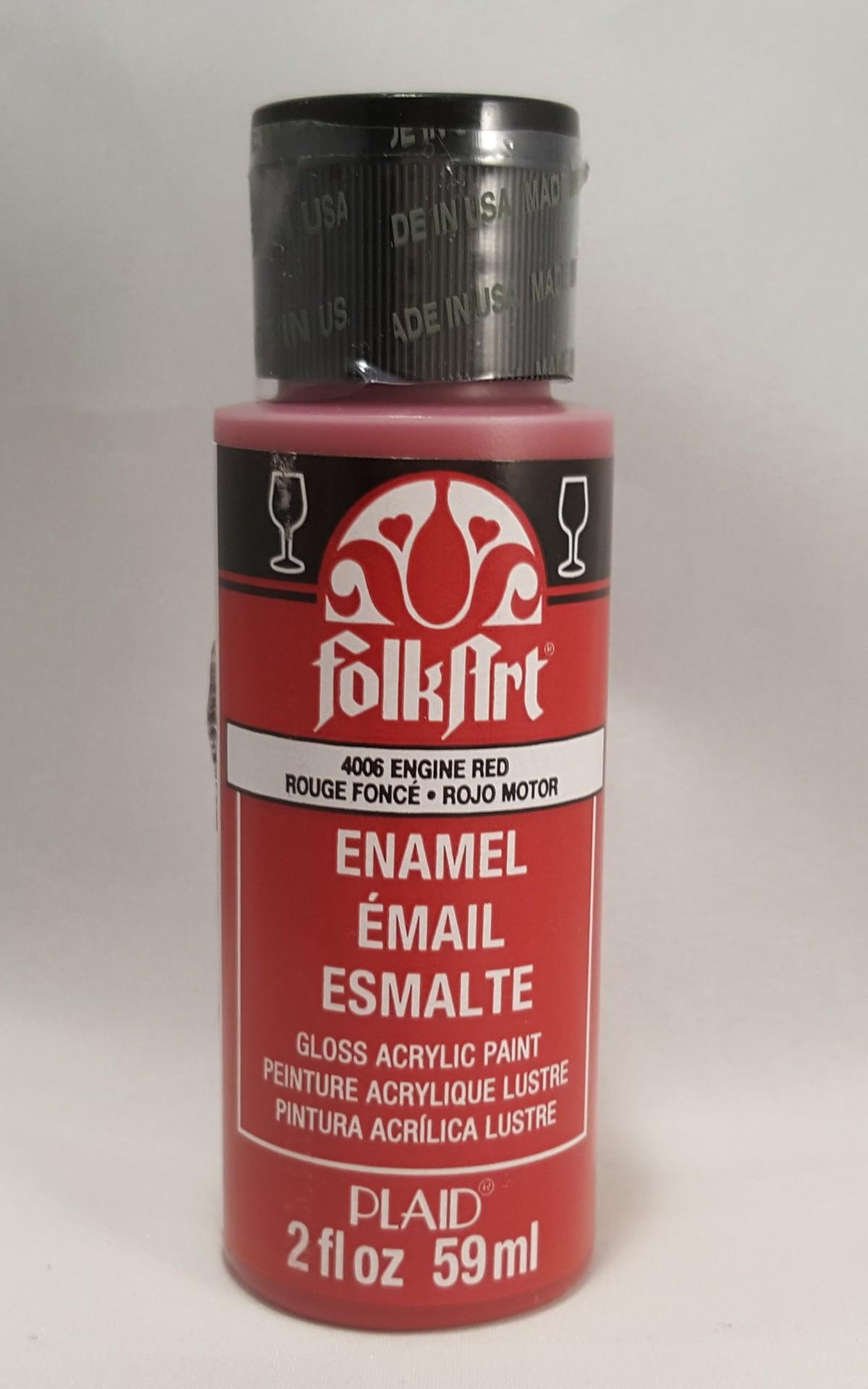 Tinta Acrílica Folkart Enamel Engine Red