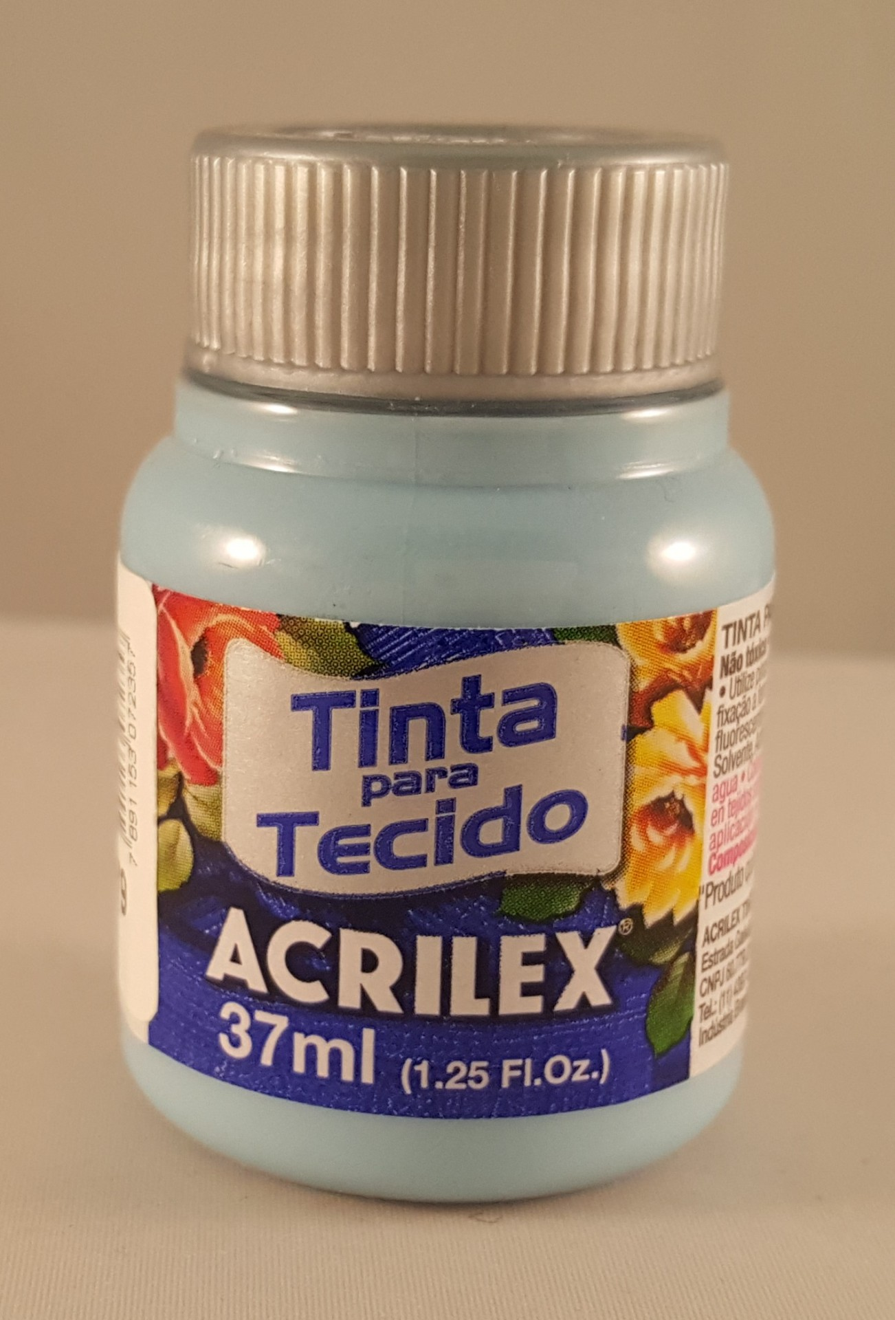 Tinta Tecido Acrilex azul hortência 579