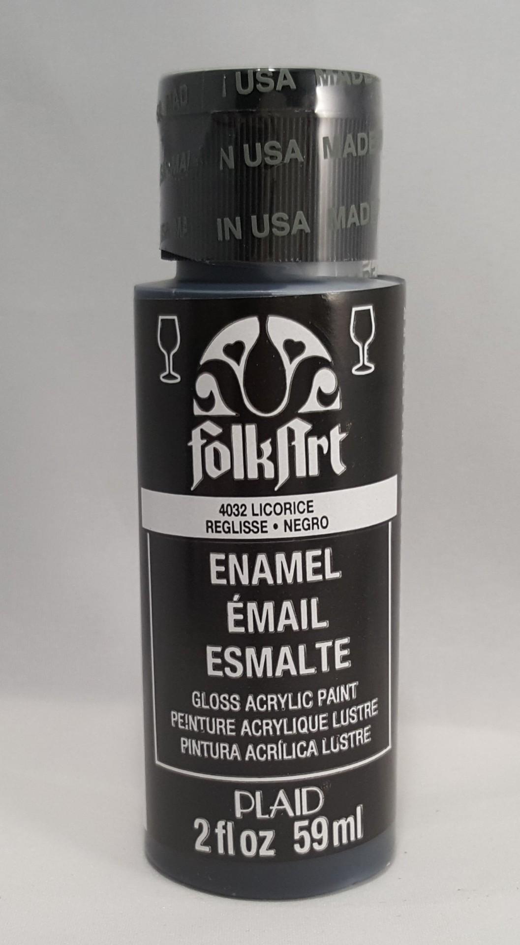 Tinta Acrílica Folkart Enamel Negro