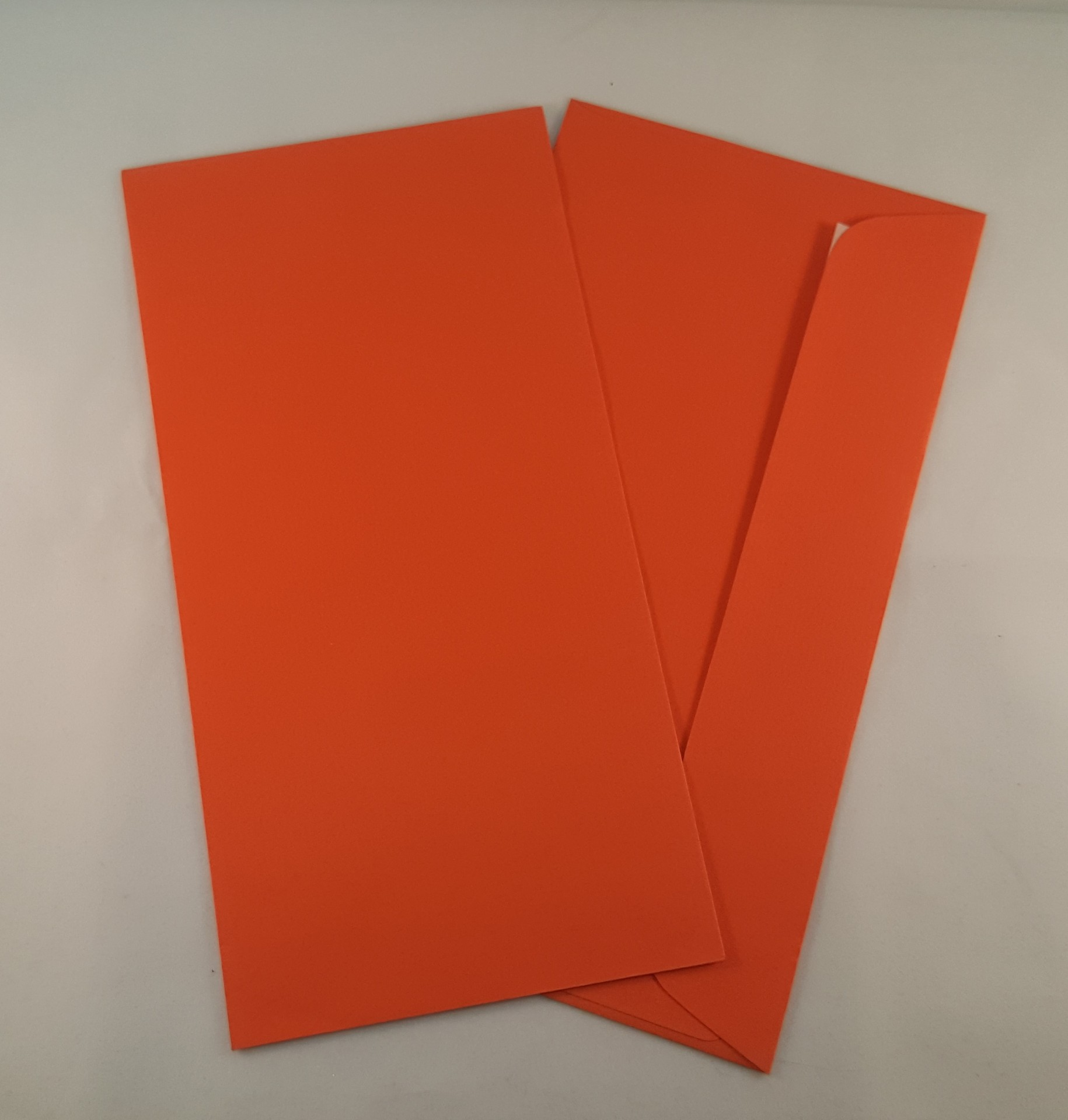 Envelopes DL coloridos cor laranja