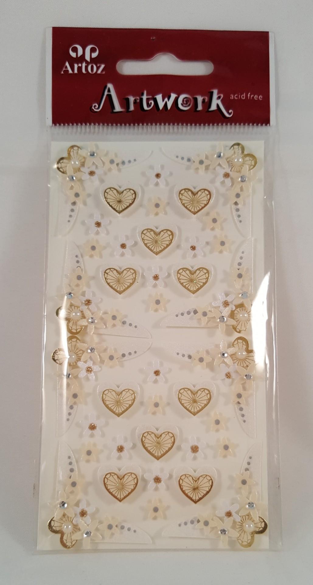 Aplicações scrapbooking -  flores casamento Artoz Artwork