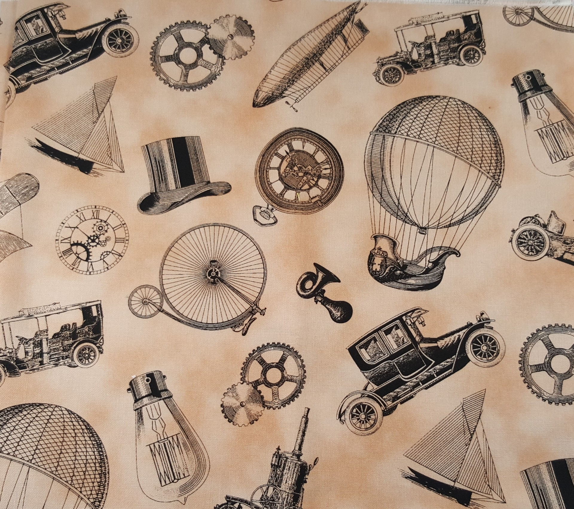 Tecido de algodão estampado-homem