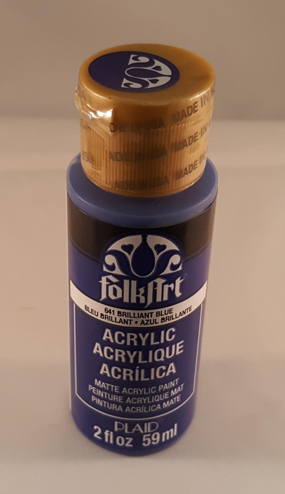 Tinta Acrílica Folkart azul brilhante