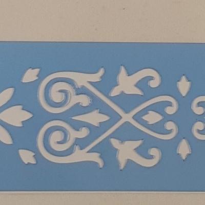 Stencil border Arabescos