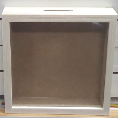 Caixa Mealheiro quadrada média 16,8 x 16,8 cm