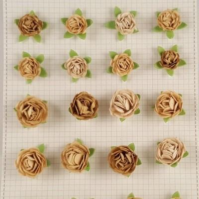 Flores de Papel para scrapbooking Little Birdie-rosas