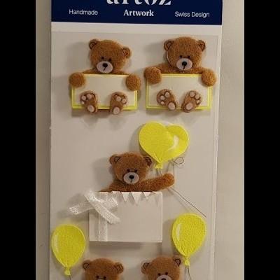Aplicações scrapbooking -  bébé -ursos/balão -Artoz Artwork
