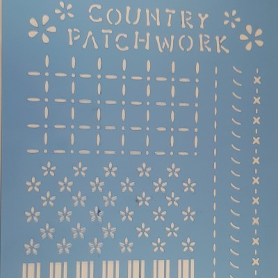 Stencil Country Patchwork