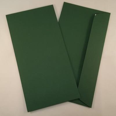 Envelopes DL coloridos cor verde escuro