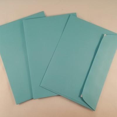 Envelopes C6 coloridos cor azul bébé