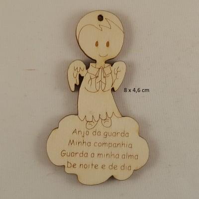 Anjos pequenos MDF  c/ oração