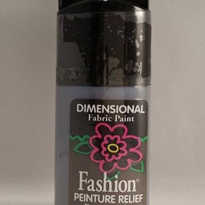 Tinta Dimensional para tecido Fashion black Metallic