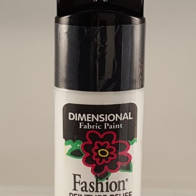 Tinta Dimensional para Tecido Fashion white shiny