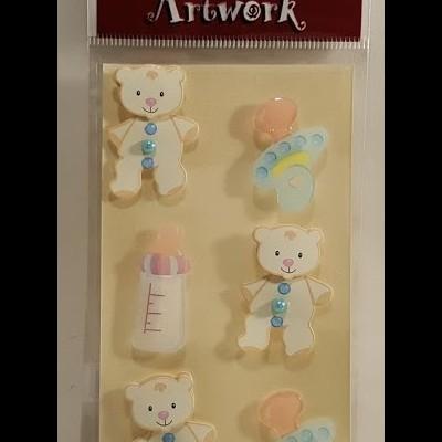 Aplicações scrapbooking -  bébé -ursos/biberon -Artoz Artwork