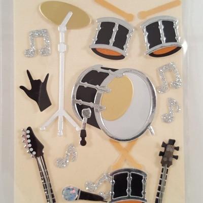 Aplicações scrapbooking -música/guitarras -Artoz Artwork