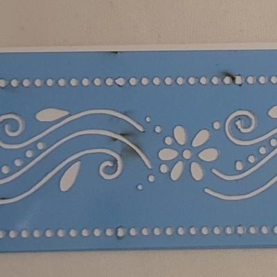 Stencil border Flores